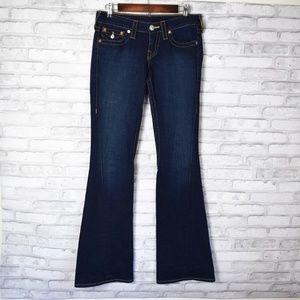 True Religion Womens Joey Flare Jeans Size 27